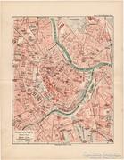 Bécs terve, belváros térkép 1892, eredeti, német, régi