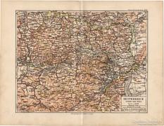 Ausztria (Enns folyó alatti) térkép 1892, eredeti, német,