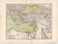 Török Birodalom térkép 1892, eredeti, német, régi