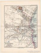 Német Kelet - Afrika térkép 1892, eredeti, német, régi