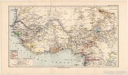 Nyugat - Afrika (Felső-Guinea és Nyugat-Szudán) térkép 1892