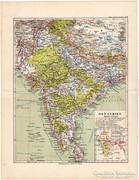 Kelet - India térkép 1892, német, eredeti, régi