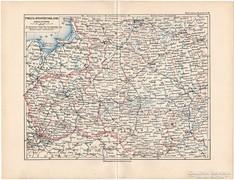 Lengyelország és Nyugat - Oroszország térkép 1892, német