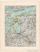 Livónia, Észtország, Kursföld térkép 1892, német, eredeti