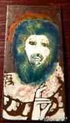 SZ.KÁRPÁTY MAGDOLNA tűzzománc kép : Jézus