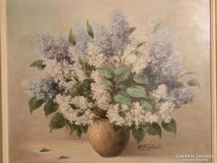 Mestermunka Németországból: virágcsendélet - olaj festmény