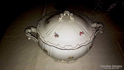 Gyönyörű Zsolnay barokk leveses tál