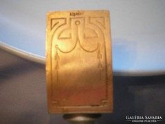Gyufatartó és hamutál egyben, antik ezüstözött U8