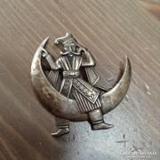 Régi kézműves ezüst bross