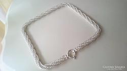 Ezüst gyönyörű különleges fonású nyaklánc 925