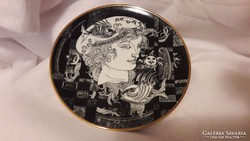 Hollóházi porcelán Szász Endre Halas tányér 15,5 cm