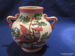 Papagájos füles szignozott váza A052