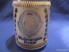 St. Georgen Brán  glazurozott sörös korsó  A052