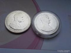 Horthy ezüst 5 pengő 1930 25 gramm 0,640 2 db egyben