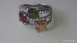 Ezüst gyűrű gyönyörű citrinkövekkel 925.