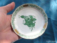 Régi herendi porcelán Apponyi tálka / kínáló 10 cm