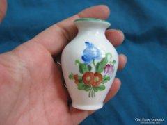 Szép régi Herendi porcelán mini váza 1920-30