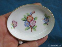 Szép régi Herendi porcelán mini tálka/ékszertartó