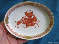 Szép régi herendi porcelán Apponyi tálka / hamus / tál