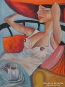 SZIESZTA- festmény ART DECO