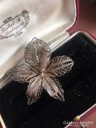 Antik filigránt ezüst bross