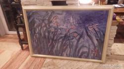 Nagyméretű képkeret nyomattal , falc 80x120 cm