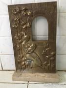 R KISS LENKE ANYA GYERMEKÉVEL bronz szobor