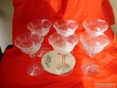 Antik kristály martinis,koktélos pohárkészlet