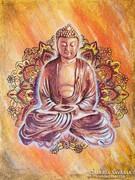 Buddha, energia mandala  Festmény