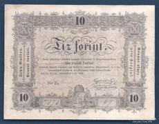 10 Forint 1848 Hibás szöveg, fordított hátlapi alapnyomat. R