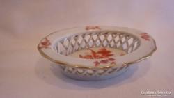 Herendi porcelán fonott tálka 1942