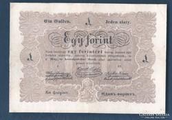 1 Forint 1849 Dátum nélkül, hibás szöveg. Ritka!!