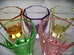 5 db. színes likőrös pohár