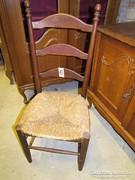 Rusztik székek gyékény fonattal