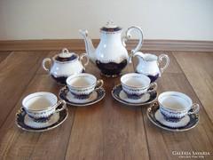 Zsolnay Pompadour 4 személyes kávéskészlet