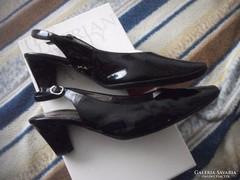 Högl lakkbőr bőr szandál cipő 38