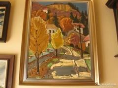 Tenk László Ürömi ősz című festménye