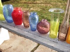 Karcagi fátyol  üveg vázák gyüjteménye 26db