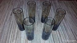 Art deco füstüveg pohár készlet