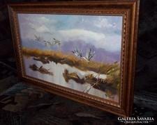 ----Vadludak a  tónál--Gyönyörű ,igényes festmény