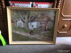 Rozs János- Kutnal festmény