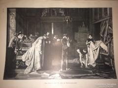 Csodálatos 120 éves antik nyomtatott kép gyűjteményből 37X27