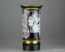 0L257 Szász Endre mintás Hollóházi porcelán váza