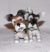 Foxi Kutyapáros Unterweissbach Porcelán