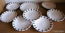 7 db-os GMUNDER desszertes tányérok