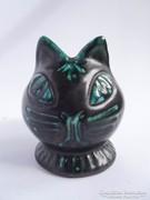 Retro iparművész macska kaspó kerámia cica váza