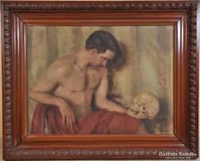 Ismeretlen művész: Hamlet koponyával, 1940-es évek