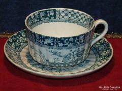 Antik fajansz csésze+alj 2