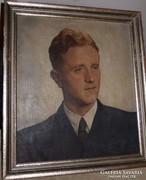 C. Stolz portré német festmény o. v.