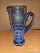 Antik kék üveg vizes boros kancsó (fp)